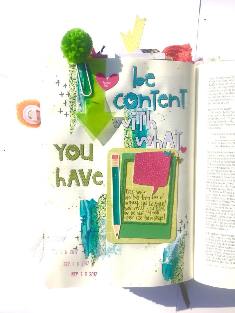 Contentment Bible Journaling
