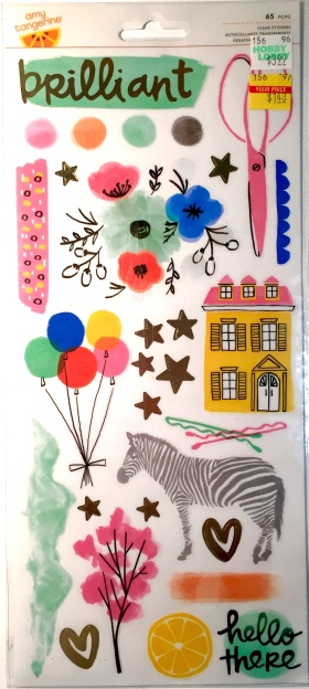 Amy Tangerine Transparent Stickers