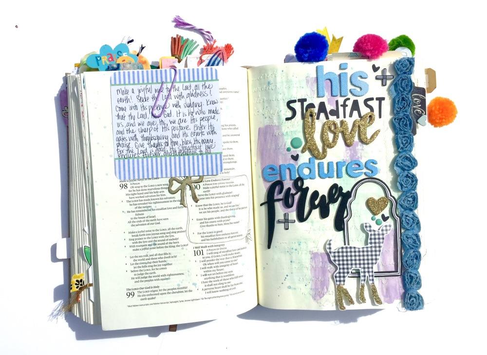 Steadfast Love Bible Journaling Illustrated faith