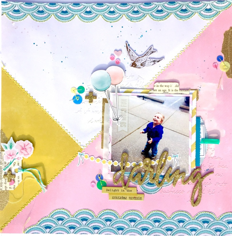 Maggie Holmes Scrapbooking Layout