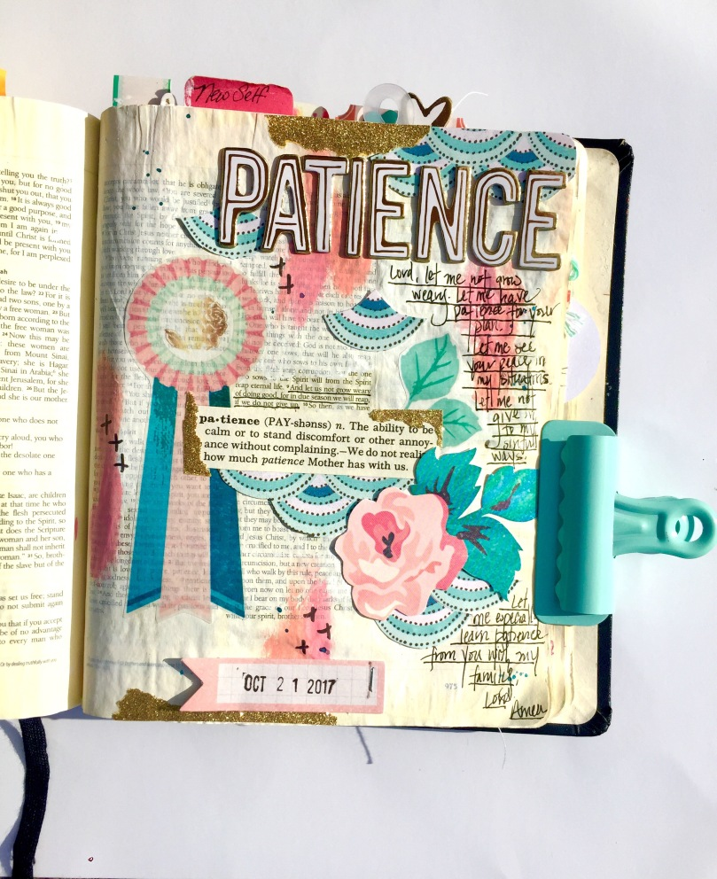 Patience Bible Journaling Illustrated Faith Asher Smiles