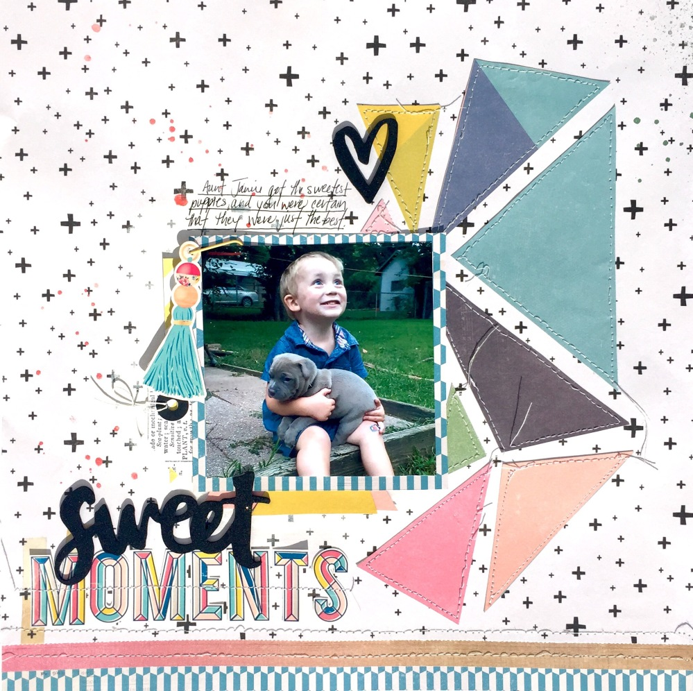 Sweet Moments Scrapbook Layout