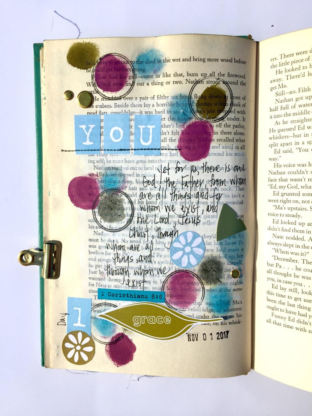Gratitude Altered Book_Day 1