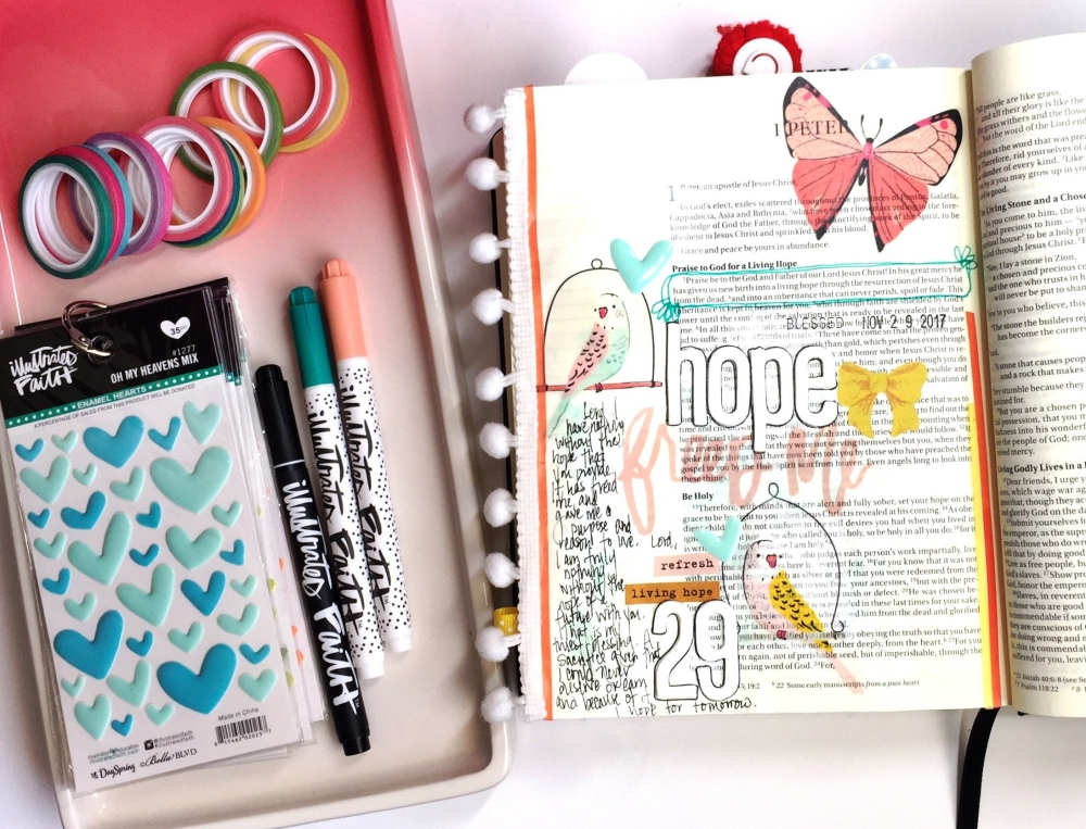 Hope Bible Journaling Illustrated Faith