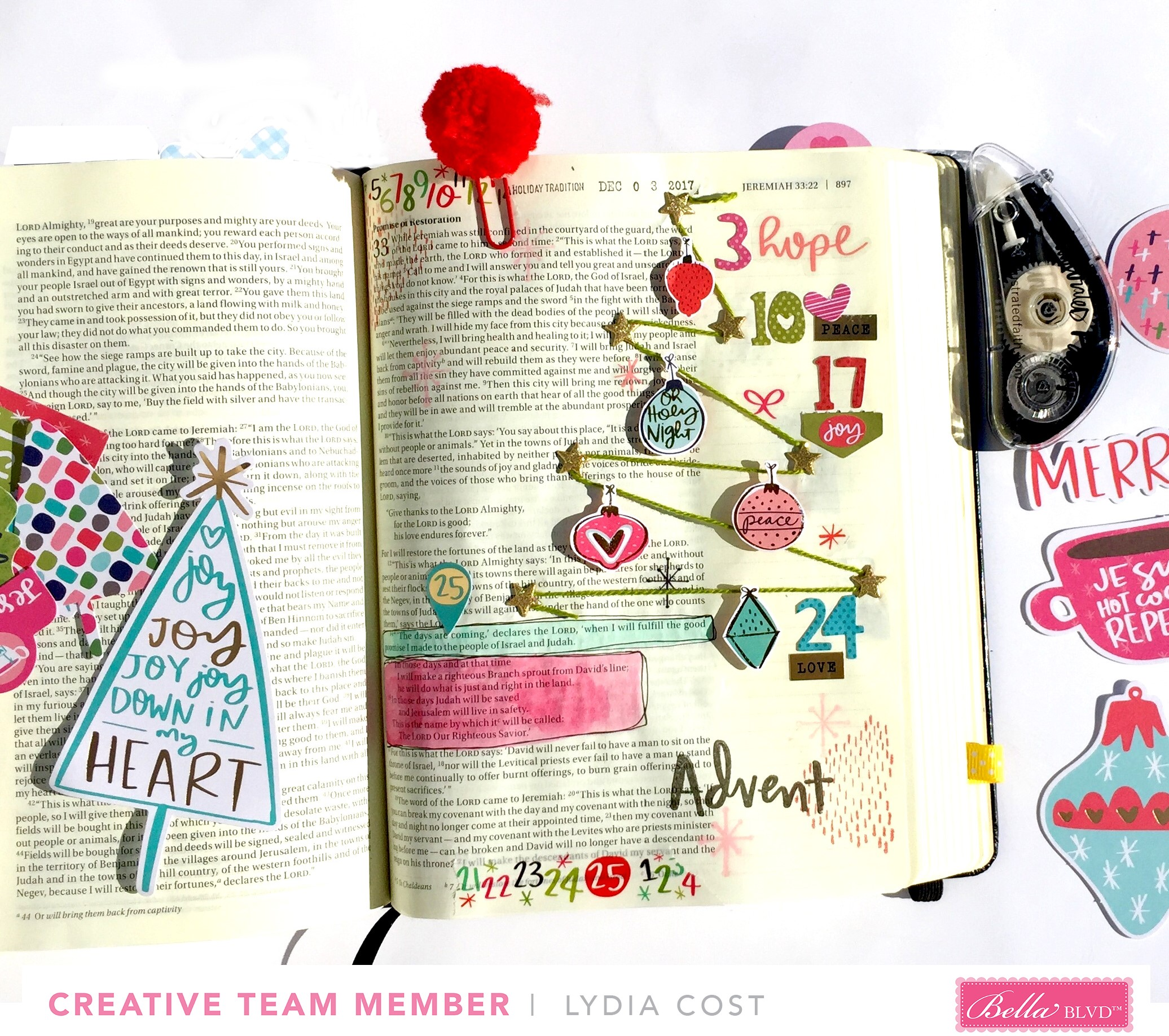Bella Blvd Advent Bible Journaling Illustrated Faith