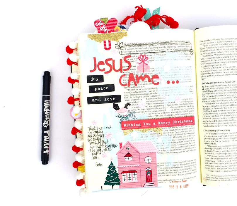 Merry Christmas Bible Journaling Page