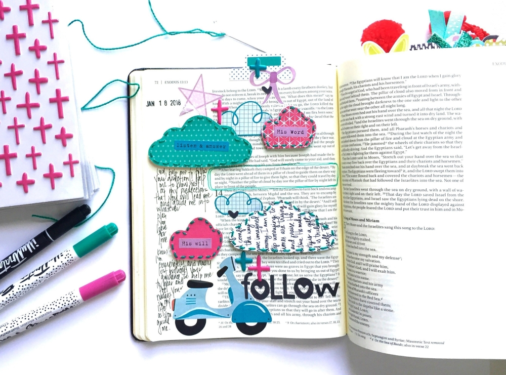 Follow Bible Journaling Page