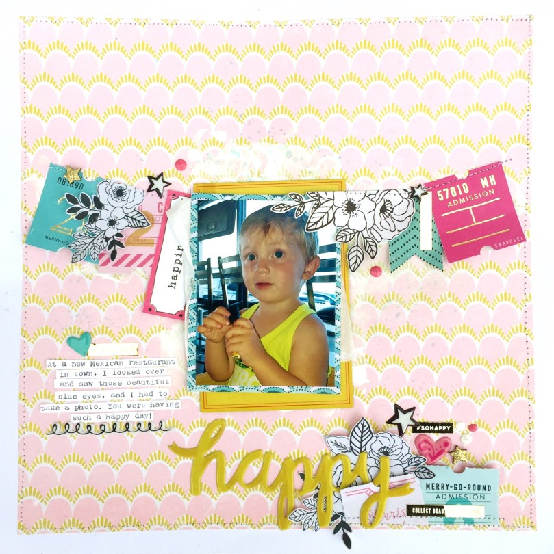 Maggie Holmes Carousel Scrapbook Layout