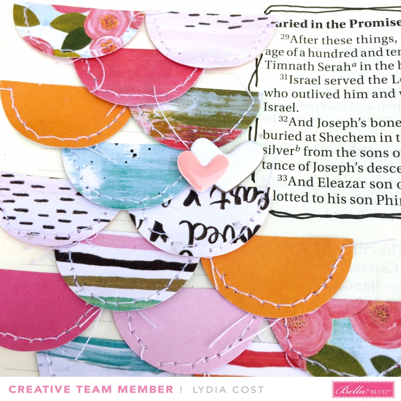 Sweet Faith Bible Journaling Page using Illustrated Faith You Are Loved Collection - Bella Blvd Design Team