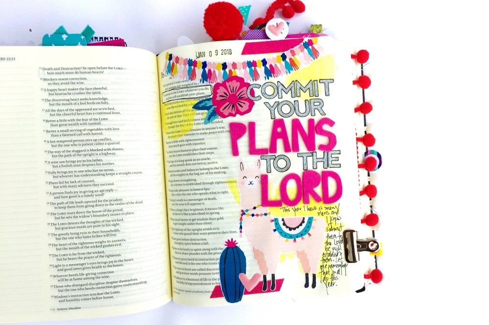 Commit Your Plans to the Lord Bible Journaling