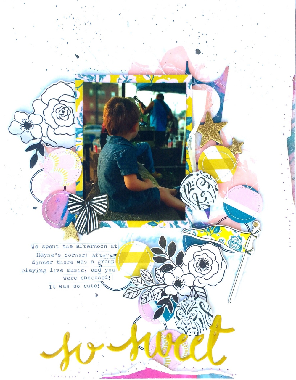 So Sweet Maggie Holmes Scrapbooking Page