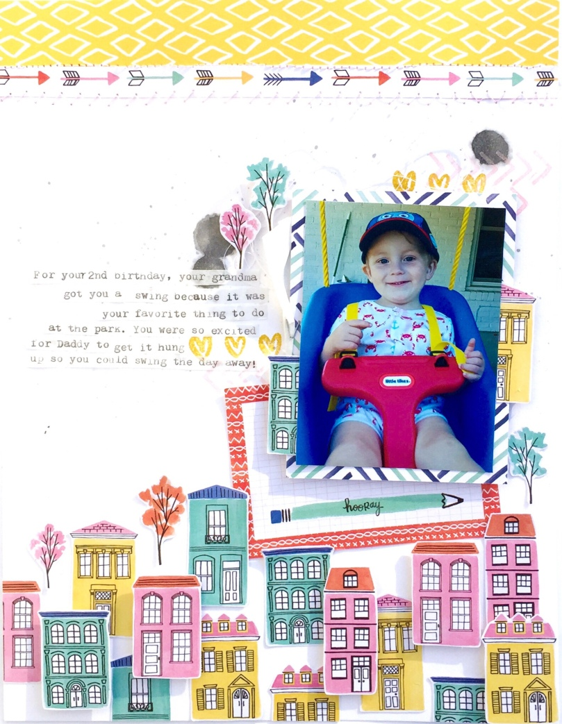 New Swing Scrapbook Page