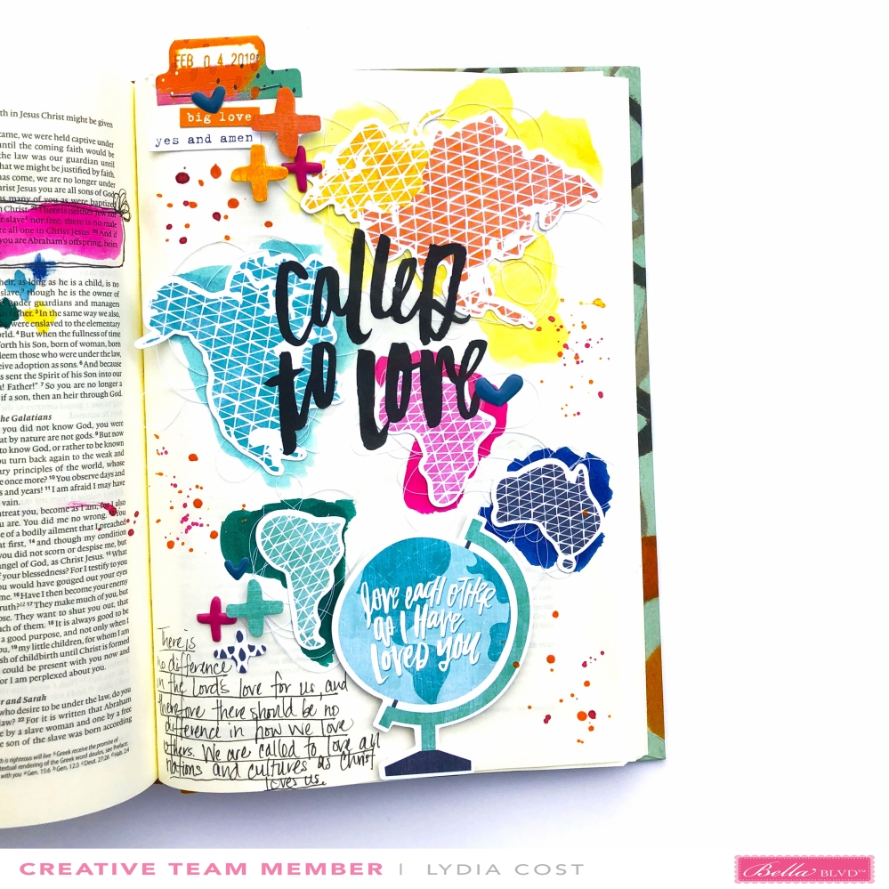 All People All Nations Bible Journaling Page