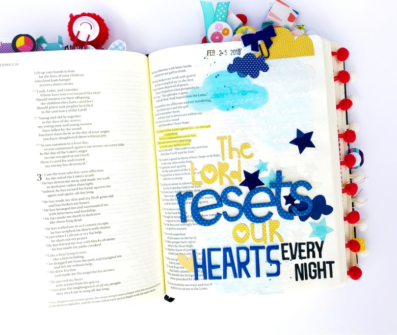 Reset Our Heart Bible Journaling Page
