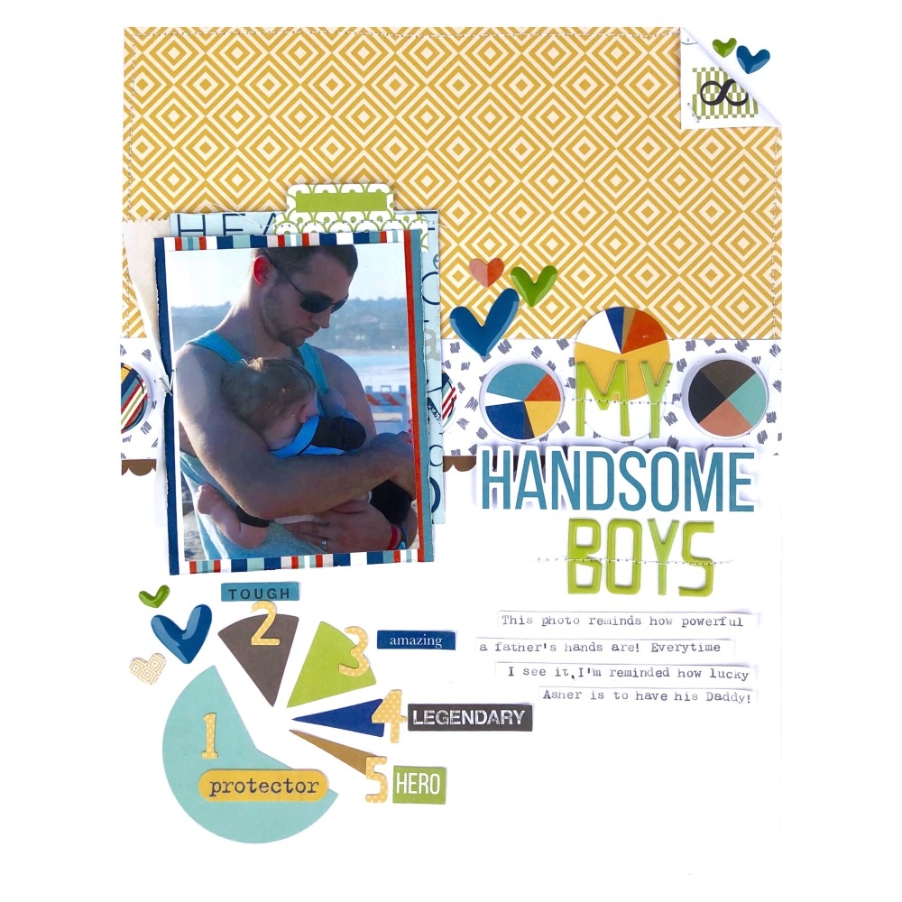 Handsome Boys Scrapbook Layout Using Bella Blvd Dad Style