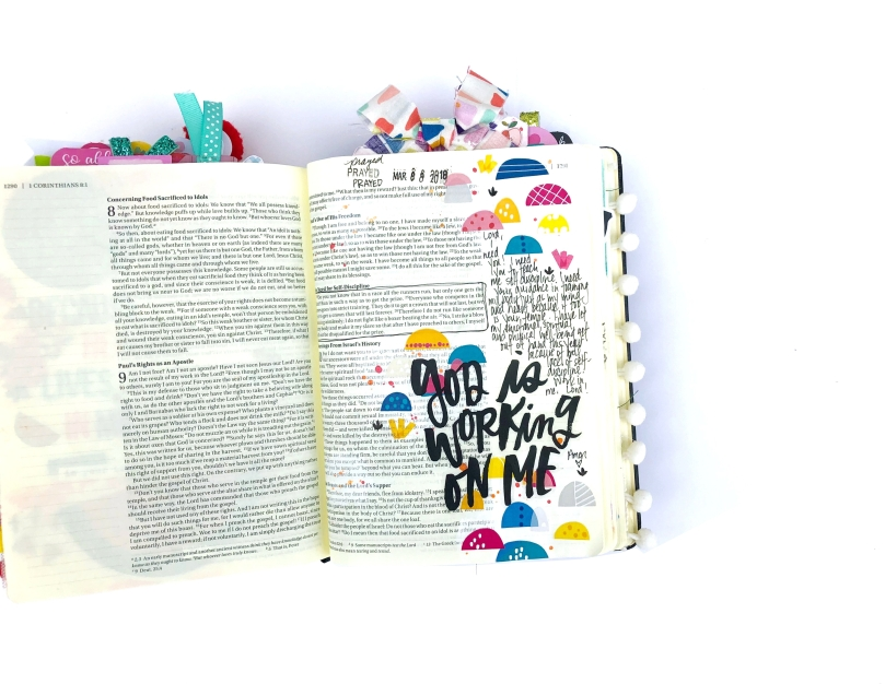 God is Working on Me Bible Journaling Page