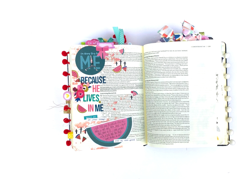 He Lives in Me Bible Journaling Page with Paige Evans Pick Me Up