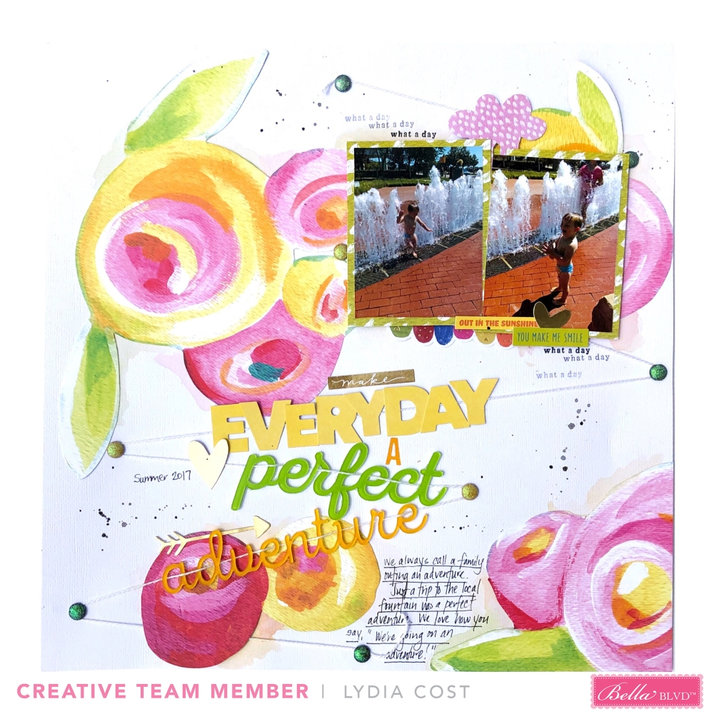 12 x 12 Layout using Bella Blvd Make Your Mark and Acrylic Words