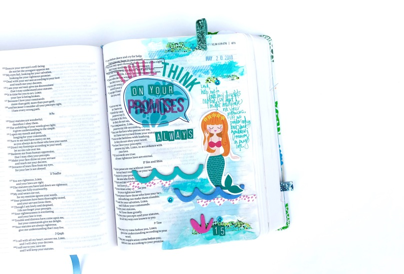 Taking Thoughts Captive Bible Journaling Page - 100 Days of Bible Promises