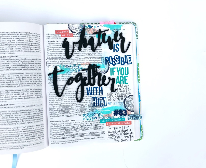 Whatever is Possible If You Are Together With Him - Bible Journaling Page