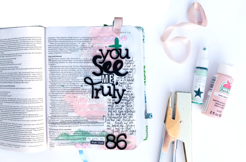 You See Me Bible Journaling Page - Lydia Cost