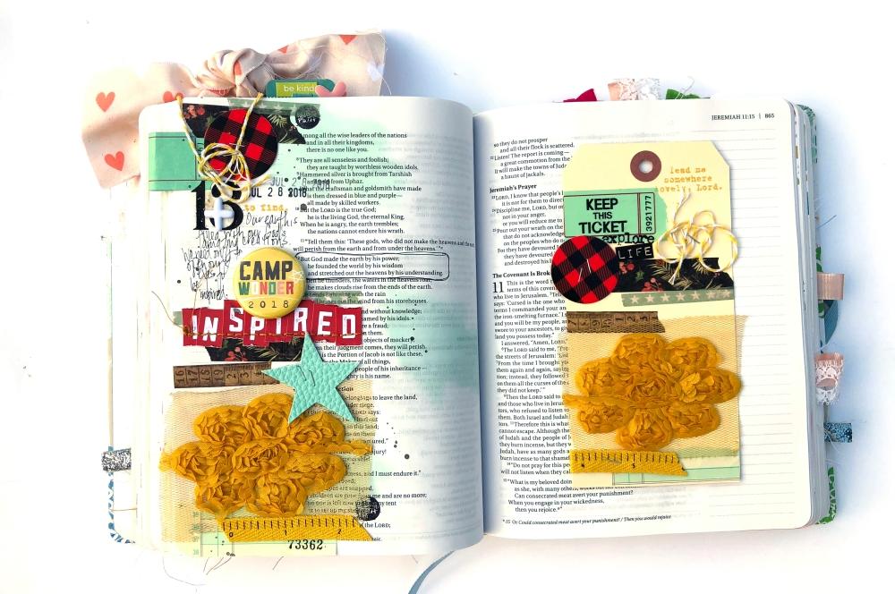 Camp Wonder Inspiration Bible Journaling Page