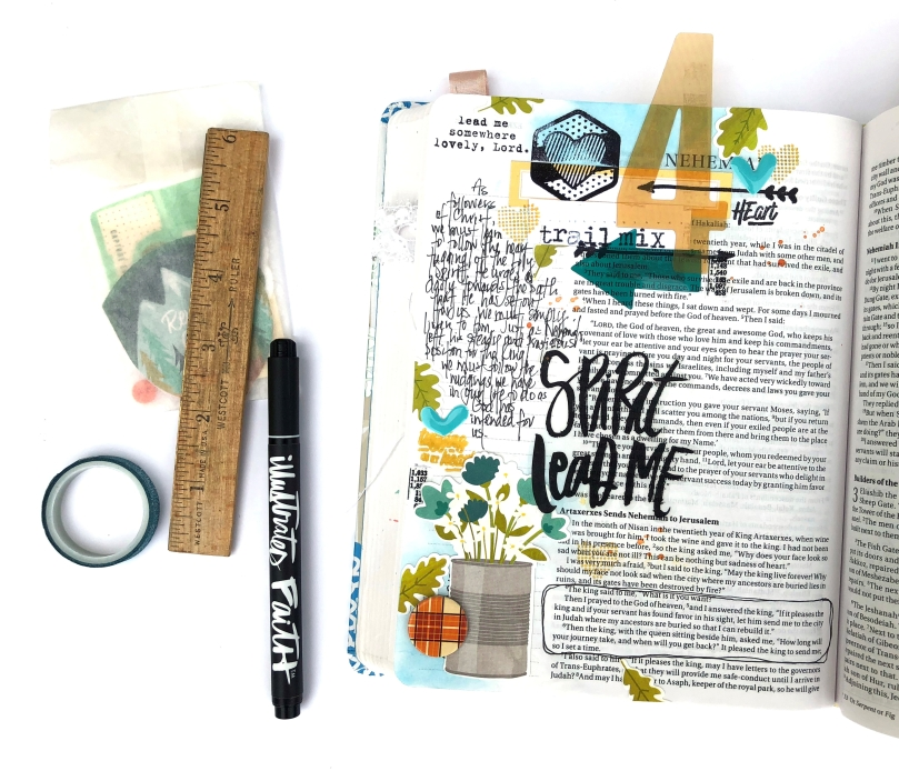 Illustrated Faith Revival Camp Session 4 Bible Journaling Page - Lydia Cost