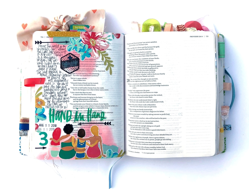 Illustrated Faith Revival Camp 2018 Bible Journaling Page - Fellowship - Lydia Cost