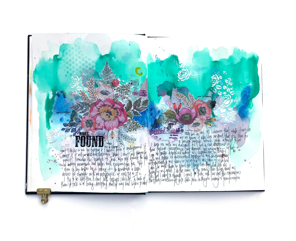 Hope Found Art Journal Page - Lydia Cost