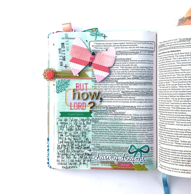 But How Lord? Bible Journaling Page using Maggie Holmes Sticker Book - Lydia Cost