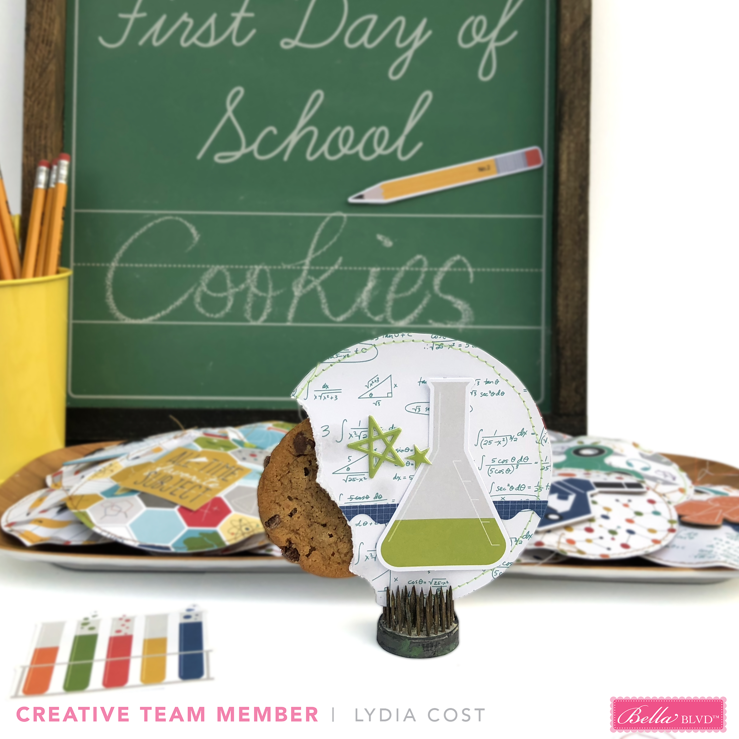 A Special Treat for Your Student Cookie Packaging using Bella Blvd Pop Quiz - Lydia Cost