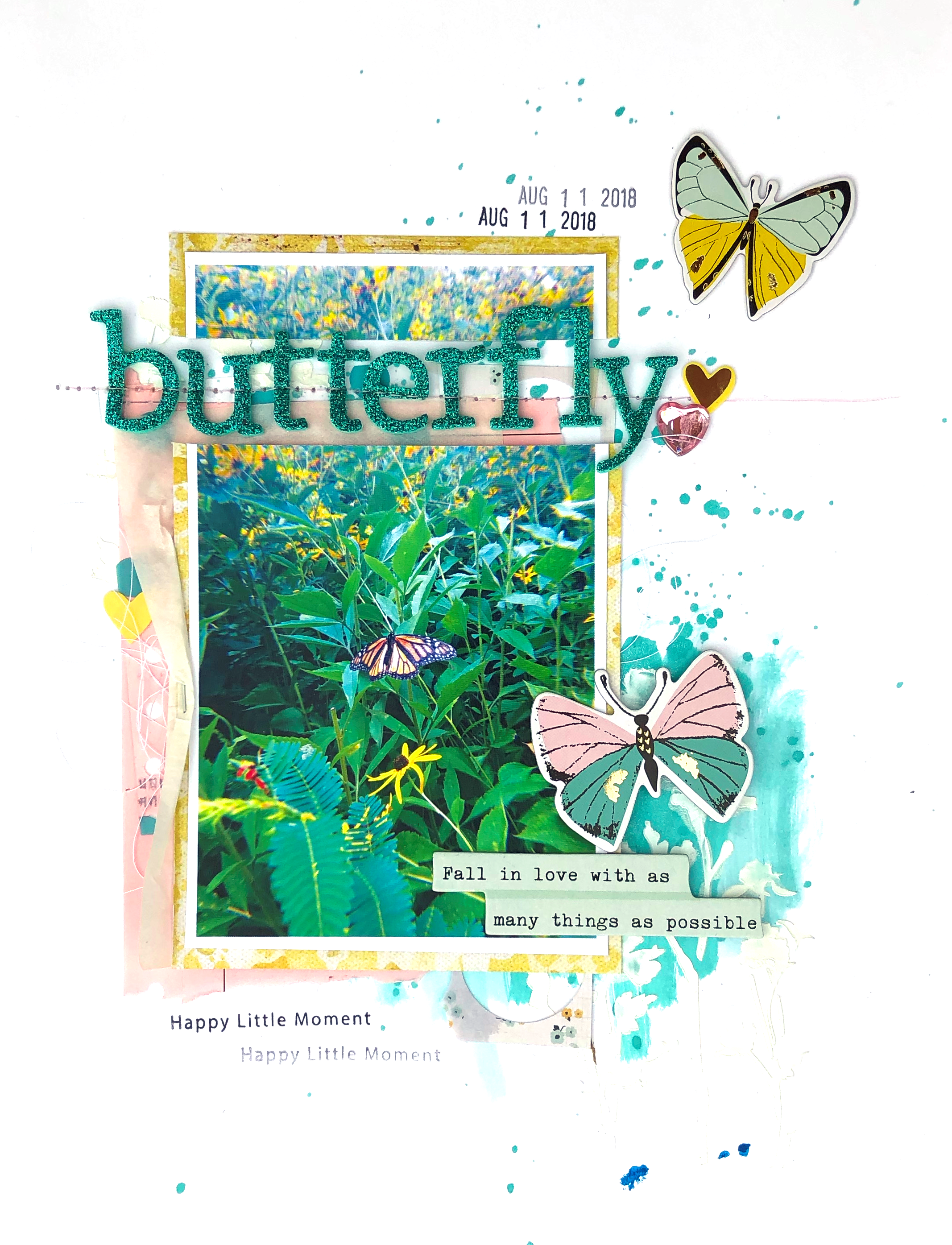 8 1/2 x 11 Scrapbook Layout using Maggie Holmes Gather and Scraps - Lydia Cost