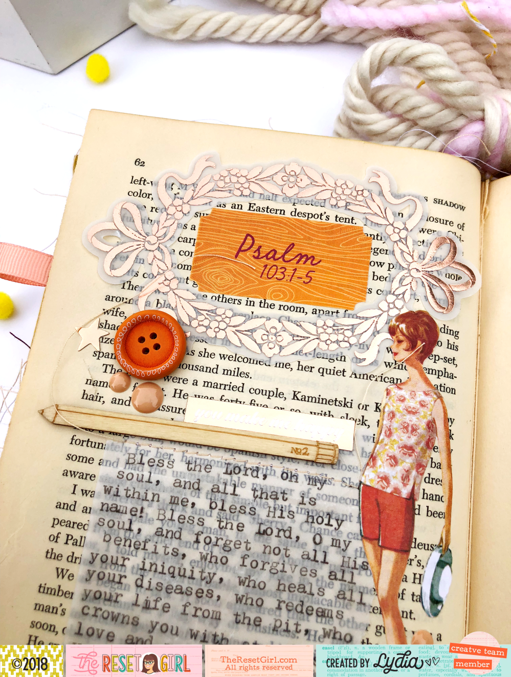 "The Reset Girl October 2018 Faithful Life Challenge Altered Book using ""The Little Things"" Collection - Lydia Cost"