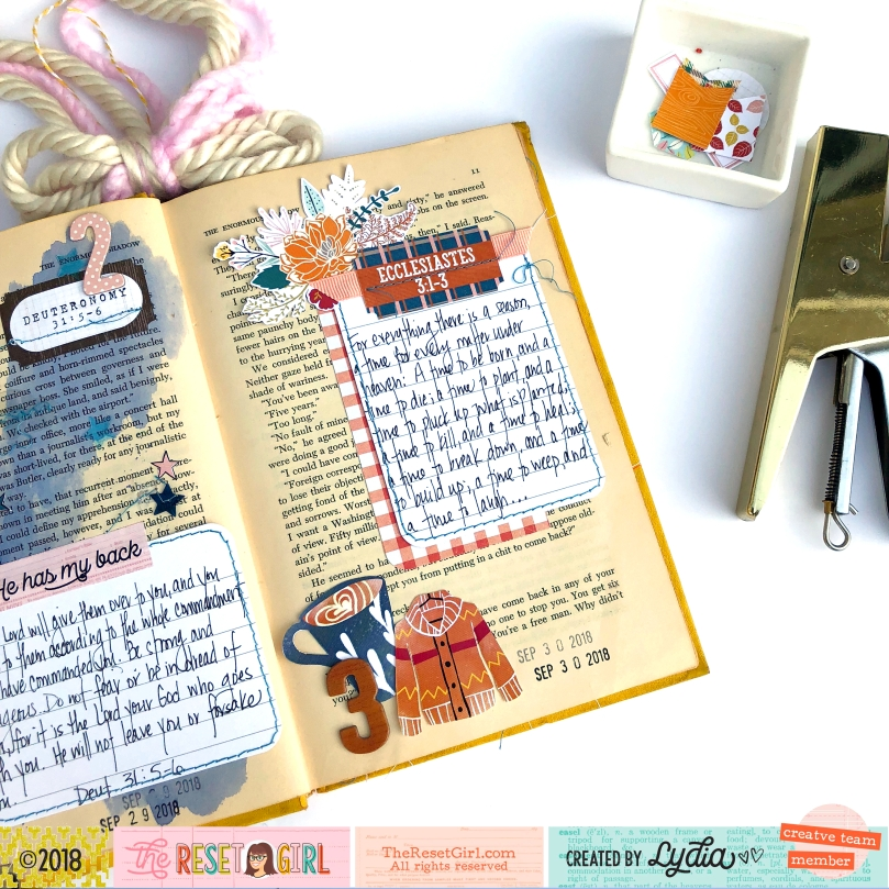 The Reset Girl October 2018 Faithful Life Challenge Altered Book - Lydia Cost