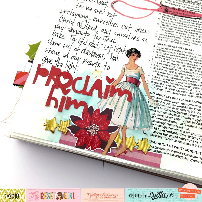 The Reset Girl Sparkle Collection Bible Journaling Page - Lydia Cost