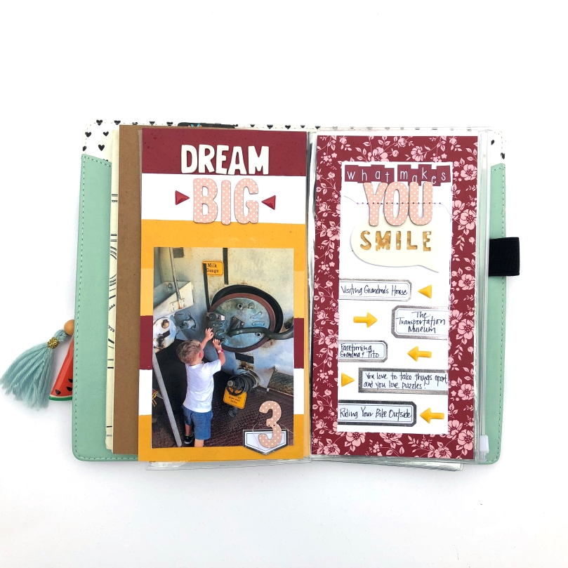 What Makes You Smile Traveler's Notebook Spread using Freckled Fawn December 2018 Bundle - Lydia Cost