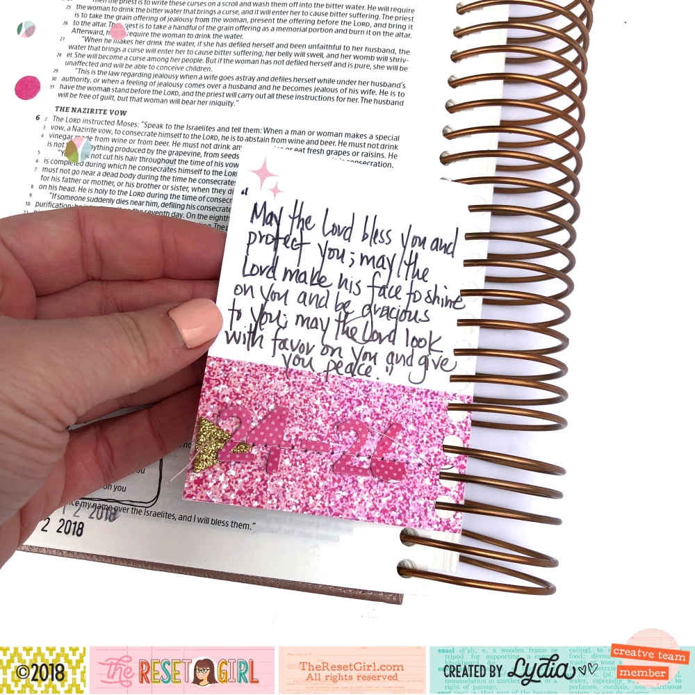 DIY Tip In for The Illustrating Bible by Illustrated Faith using Hole Punch - Lydia Cost
