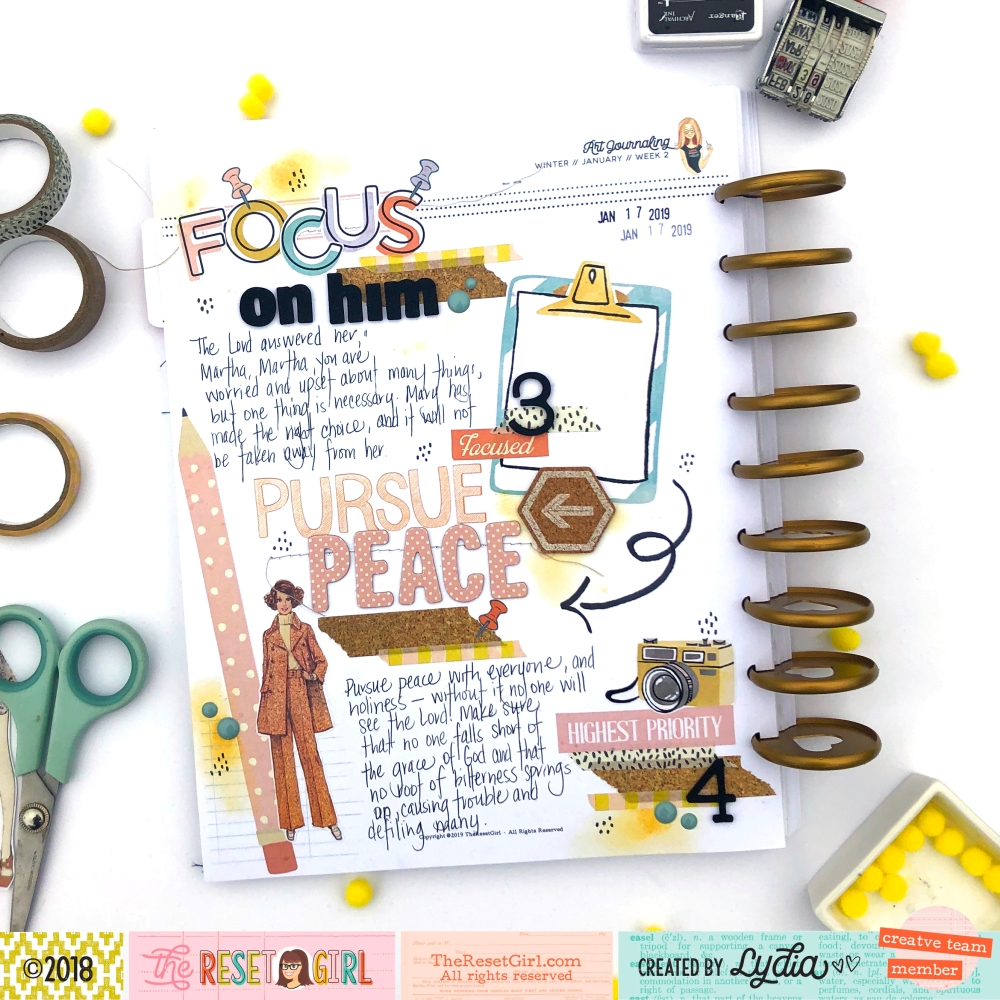 The Reset Girl Faithful Life Scripture Writing Challenge in Crafty Club Playbook using Focused Collection - Lydia Cost