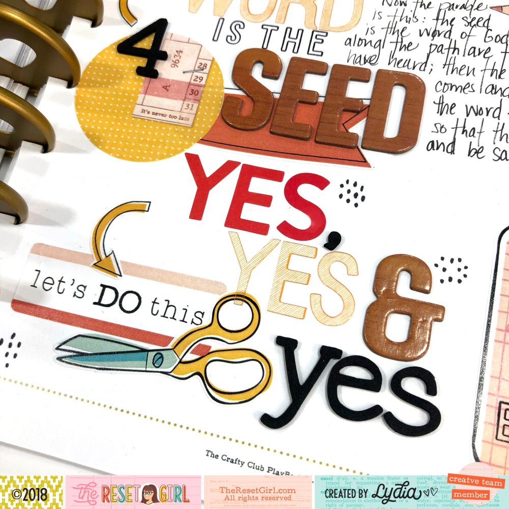 The Reset Girl Faithful Life Challenge in The Crafty Club Playbook using Vault Reset Collection - Lydia Cost
