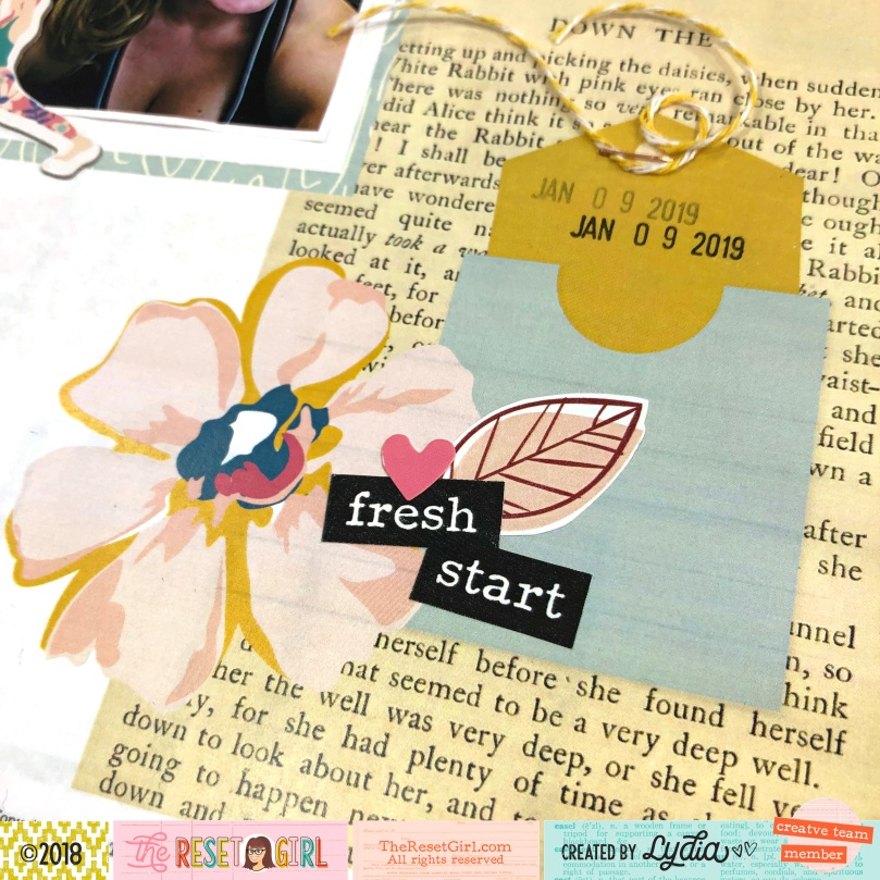 Memorykeeping in the 2019 The Reset Girl Crafty Club Playbook - Lydia Cost