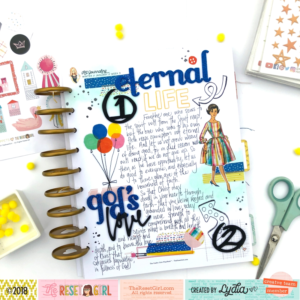 The Reset Girl Faithful Life Challenge in The Crafty Club Playbook - Treasured Collection - Lydia Cost