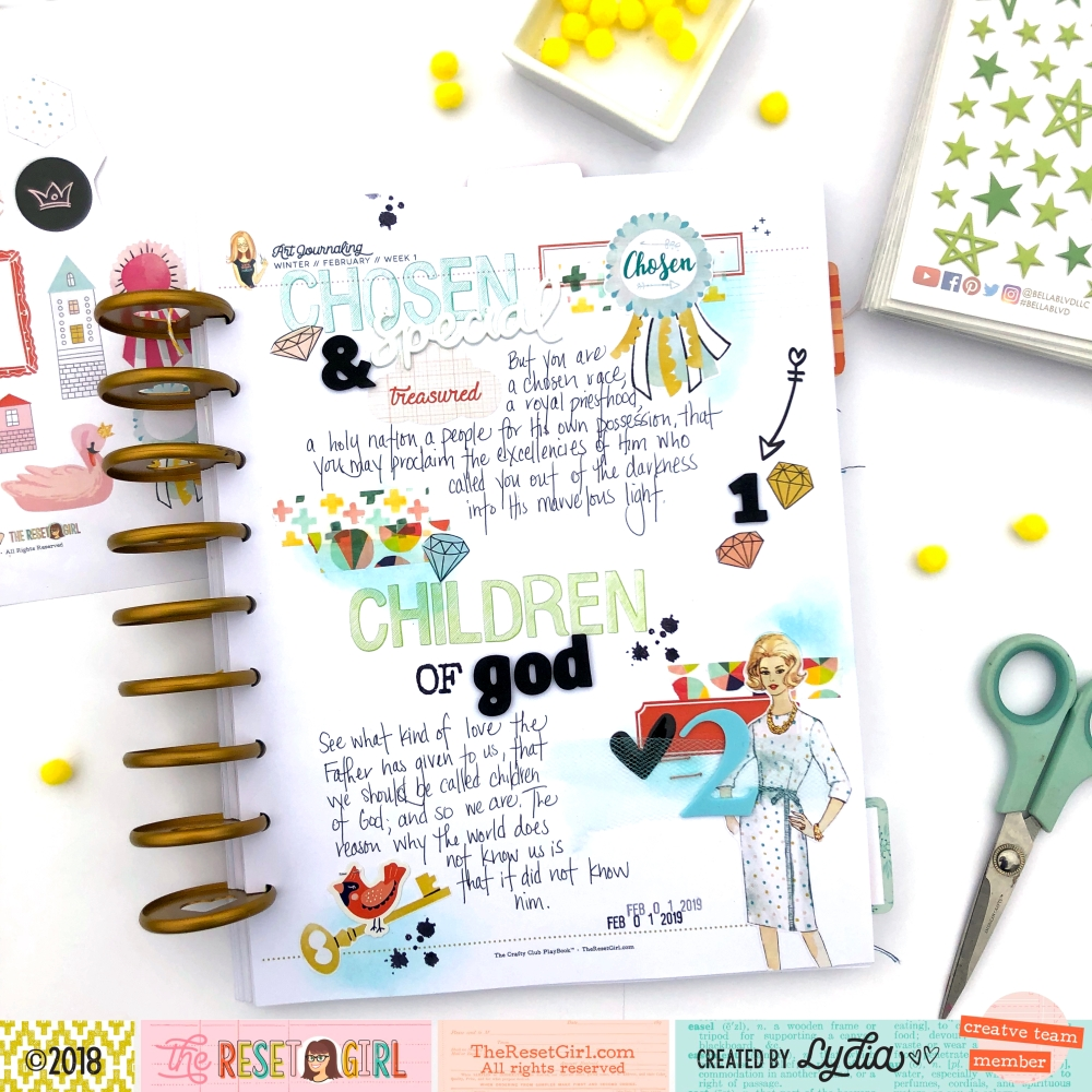 The Reset Girl Faithful Life Challenge in The Crafty Club Playbook using Treasured Collection - Lydia Cost
