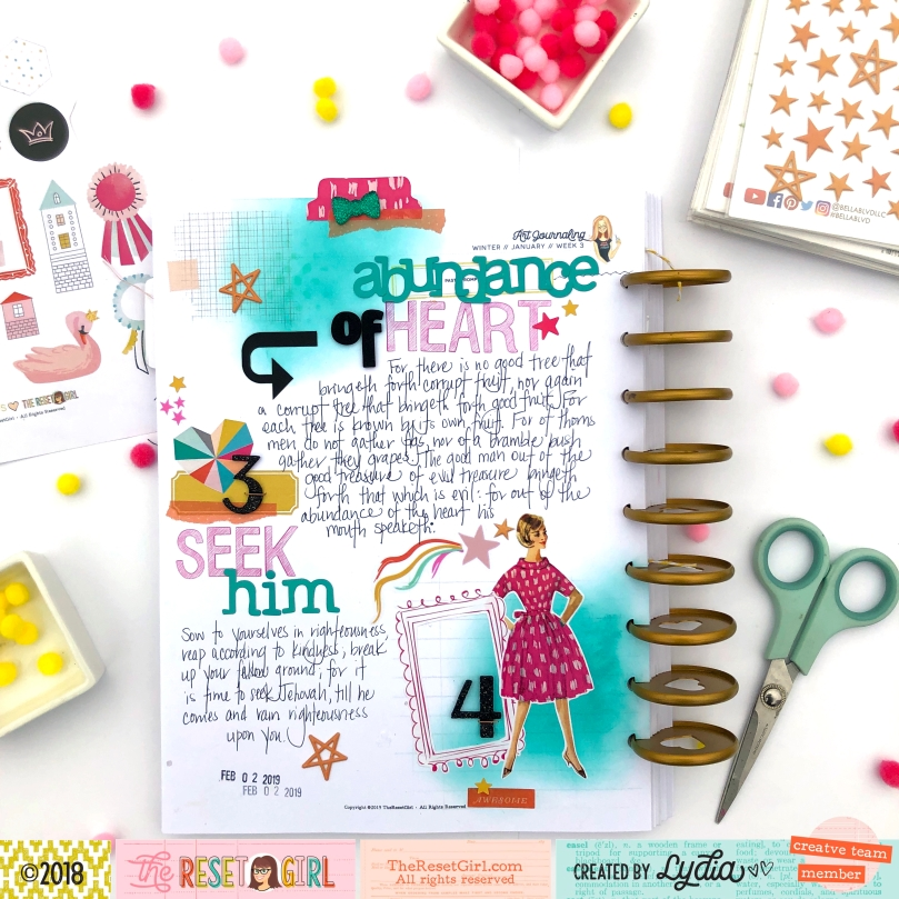 The Reset Girl Faithful Life Challenge in The Crafty Club Playbook using Focused Collection - Lydia Cost
