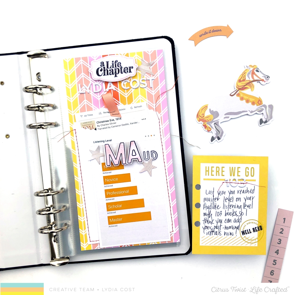 Citrus Twist Kits Life Crafted - Life Chapters - Album Spread - Lydia Cost