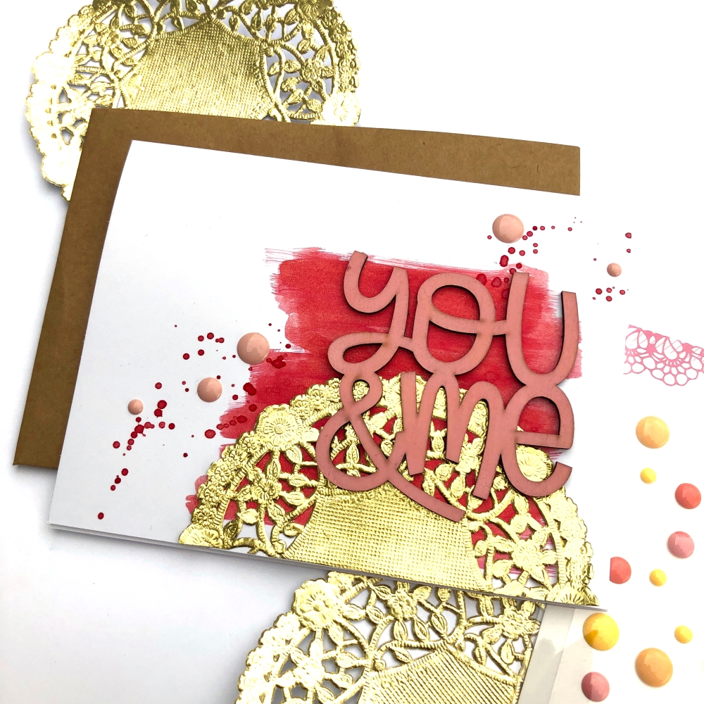 You and Me Valentine's Card using Freckled Fawn Feb 2019 Bundle - Lydia Cost