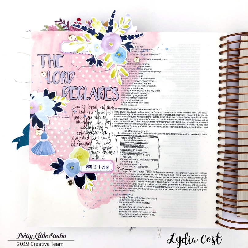 Pretty Little Studio Shine Bright Bible Journaling Page - Lydia Cost