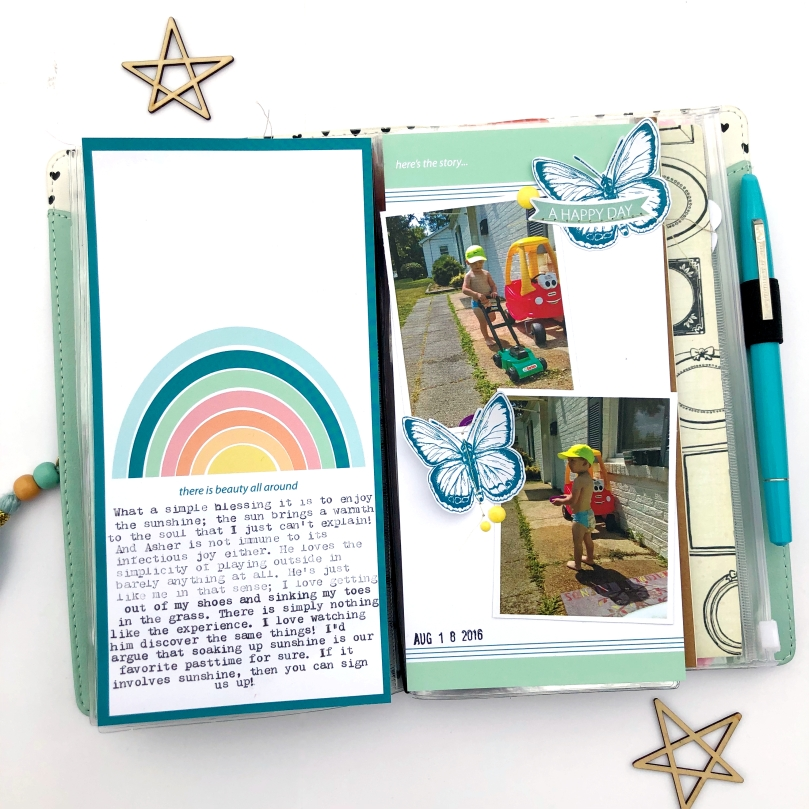 Freckled Fawn April Bundle Traveler's Notebook Spread - Lydia Cost