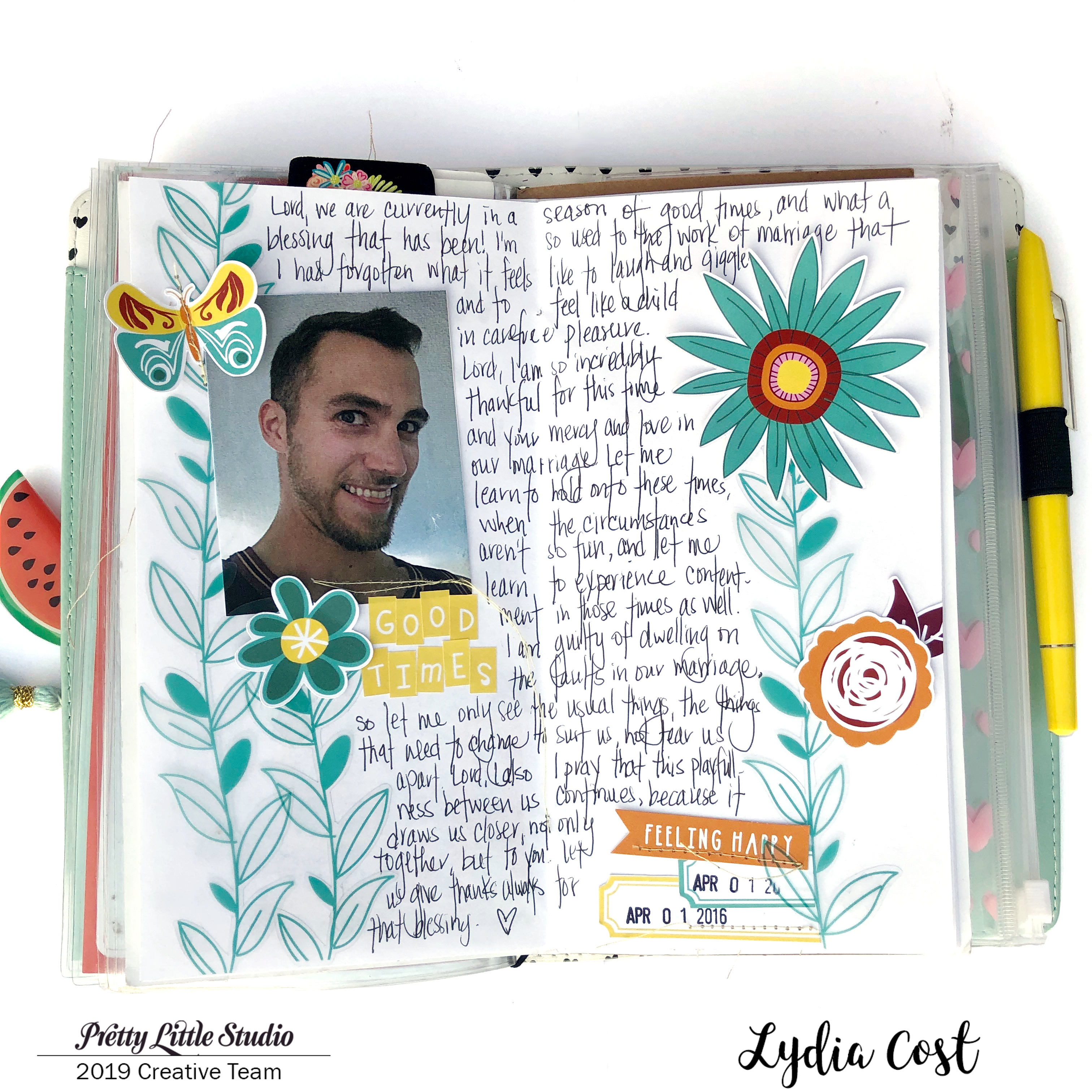Traveler's Notebook for Prayers using Pretty Little Studio Bohemian Dreams - Lydia Cost