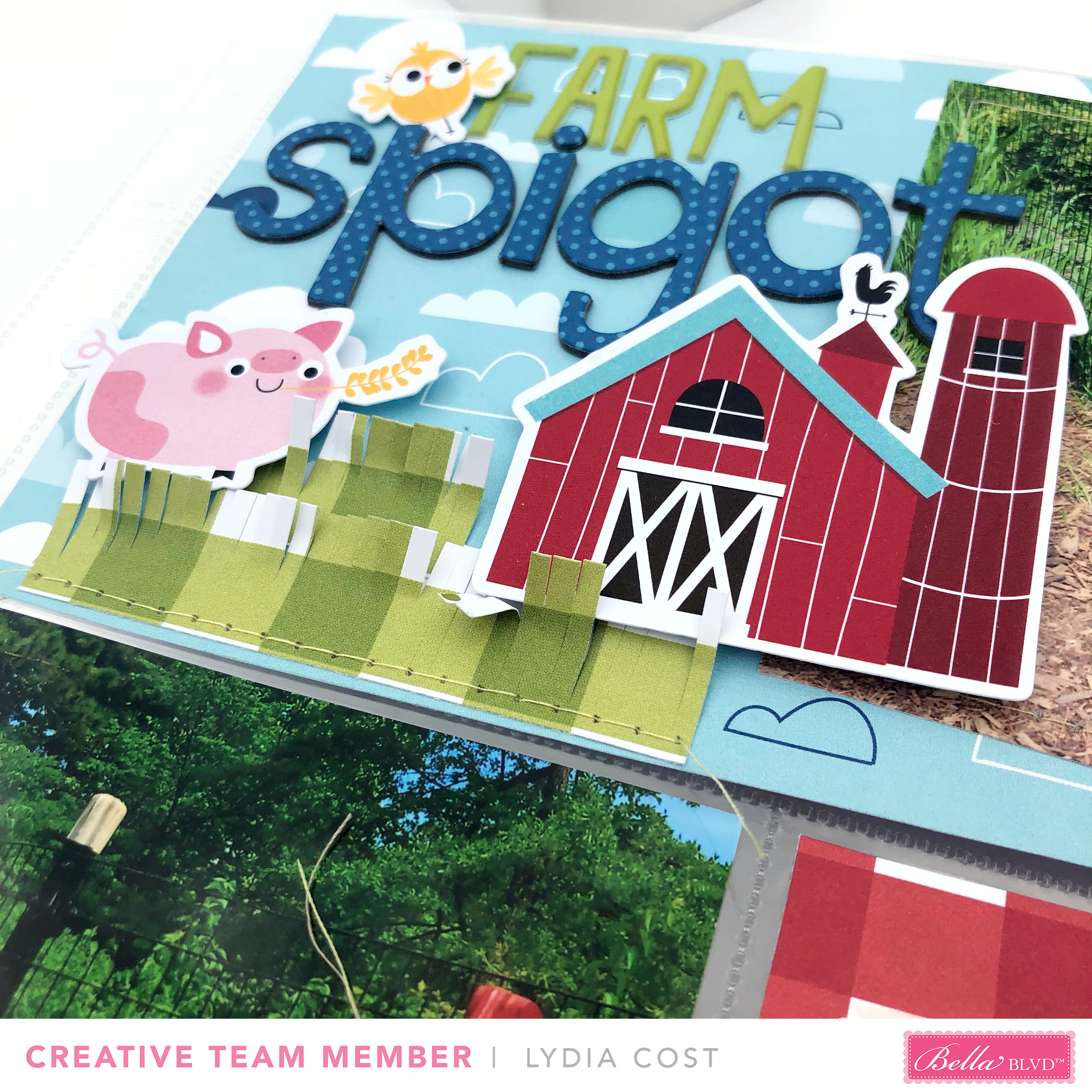 Bella Blvd Barnyard Collection Pocket Page for National Farm Animal Day - Lydia Cost