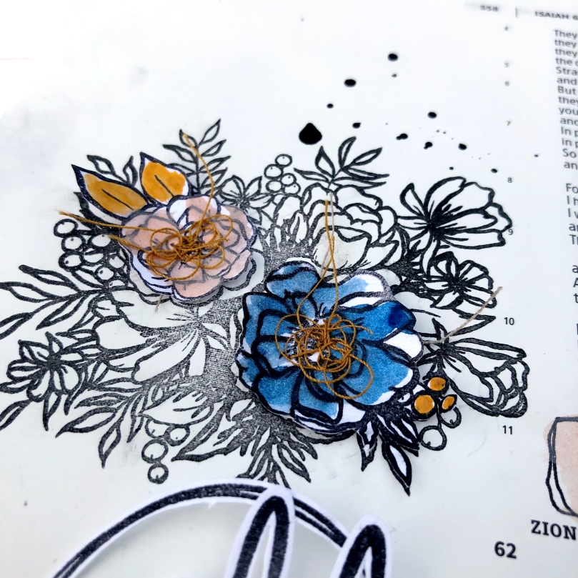 Wildflower Spring Up Isaiah 61:11 Bible Journaling Page featuring Illustrated Faith Wildflower Devotional Kit - Lydia Cost